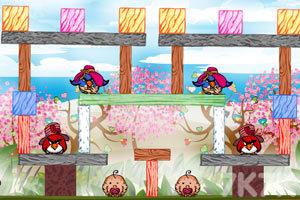 《不愤怒的小鸟情人节版》游戏画面3