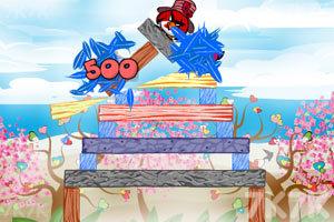《不愤怒的小鸟情人节版》游戏画面6