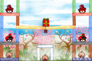 《不愤怒的小鸟情人节版》游戏画面8