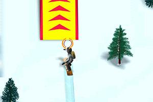 《雪山滑雪障碍赛》游戏画面1