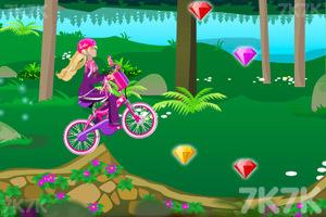 《芭比骑自行车》游戏画面1