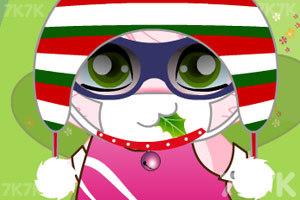 《粉红兔兔换装》游戏画面2