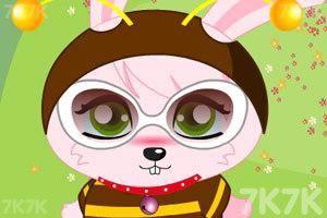 《粉红兔兔换装》游戏画面1