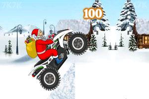 《圣诞老人冰山摩托》游戏画面2