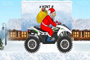 《圣诞老人冰山摩托》游戏画面8