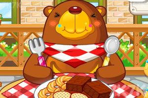 《小熊吃饼干》游戏画面1