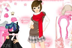 《时尚少女冬装》游戏画面1