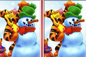 《小熊维尼圣诞找茬》游戏画面1