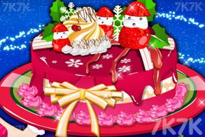 圣诞节鲜美蛋糕