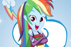 《美丽彩虹发型》游戏画面1