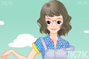 《小女生开学换装》游戏画面9