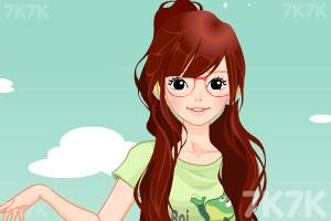 《小女生开学换装》游戏画面1