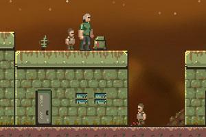 《大叔战太空怪》游戏画面1