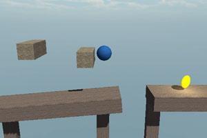 《蓝球空中跳跃》游戏画面1