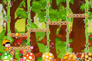 《美女猫采蘑菇》游戏画面1