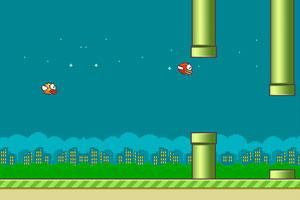 《飞翔的小鸟双人版》游戏画面1