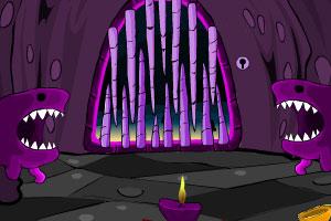 《鲨鱼洞穴逃脱》游戏画面1