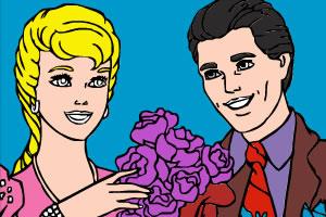 《新婚夫妇填色》游戏画面1