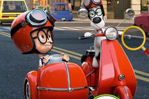 《眼镜狗和男孩找字母》游戏画面1