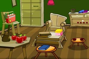 逃出破旧绿房间