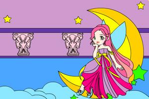 《月亮仙子填颜色》游戏画面1