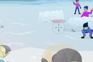 《小伙伴们打雪仗》游戏画面1