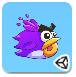 飞扬的毛茸茸小鸟