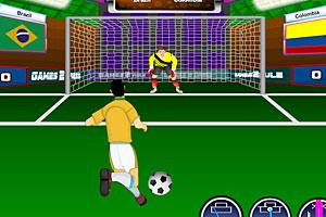 《巴西世界杯点球大赛》游戏画面1