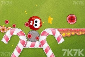 《龅牙球吃糖果》游戏画面3