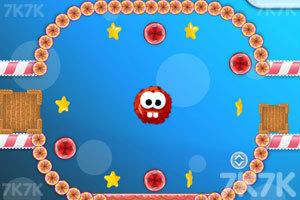 《龅牙球吃糖果》游戏画面1