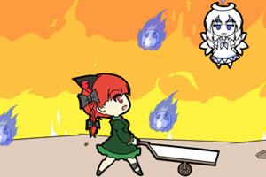 《火焰猫燐接怨灵》游戏画面1
