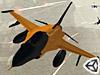 橙色喷气战斗机