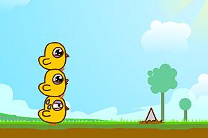 《三只小黄鸡》游戏画面1
