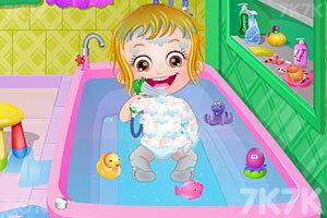 《可爱宝贝清理浴室》游戏画面6