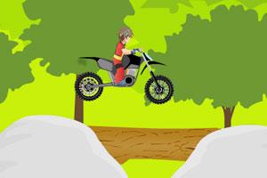 《爆丸小子驾驶摩托车》游戏画面1