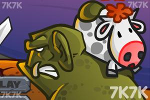 《偷牛贼选关版》游戏画面1