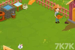《照顾农场里的小兔子》游戏画面1
