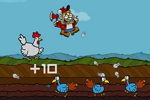 《疯狂农场杀鸡》游戏画面1