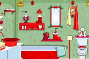 《圣诞节布置洗手间》游戏画面1