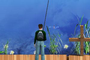 《莲花湖钓鱼》游戏画面1