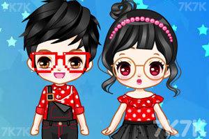 《可爱的小情侣》游戏画面2