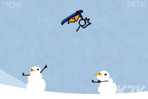 《火柴人冰雪滑板》游戏画面2