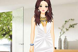 时尚的深V礼服
