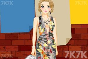 《时尚的深V礼服》游戏画面2