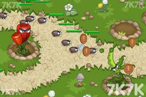 《花园塔防战2无敌版》游戏画面2