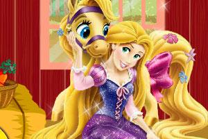 《长发公主照顾小马》游戏画面1