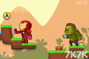 《绿巨人与钢铁侠无敌版》游戏画面2