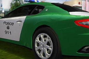 《玛莎拉蒂警车拼图》游戏画面1