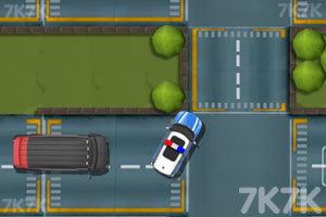 《警车马路停靠》游戏画面3