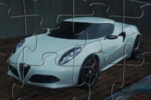 《阿尔法4C跑车拼图》游戏画面1